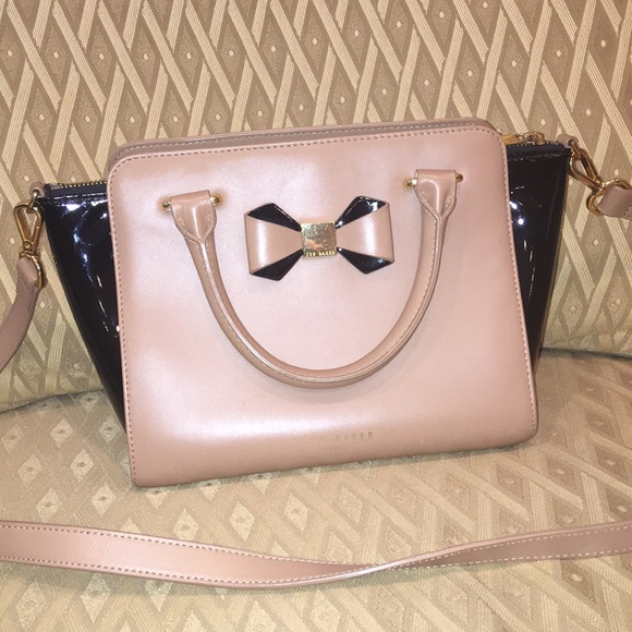 Ted Baker leather crossbody bag (black/taupe)